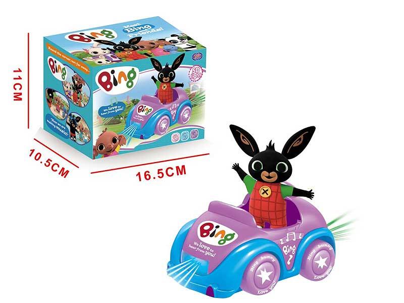 Battery operated Bing Bunny bump and go car cartoon car toys