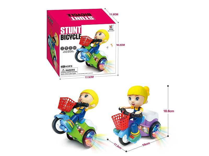B/O Stunt Tricycle W/L_M toys