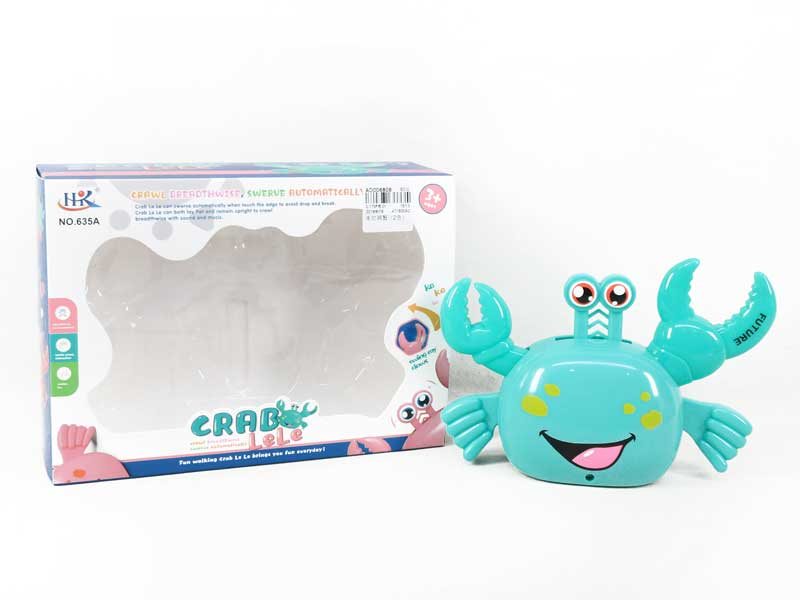 Battery Operated Toy Walking Crab color pink and blue toys