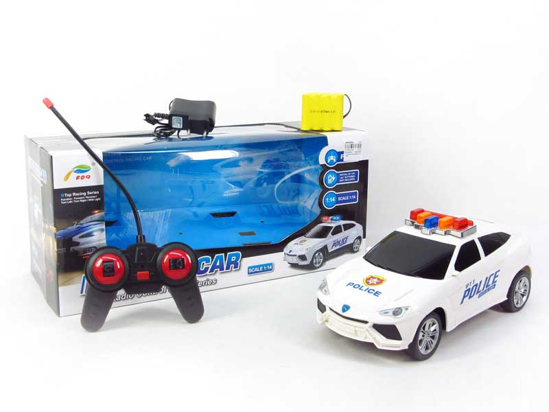 1:14 R/C Police Car 4Way W/L_Charge toys