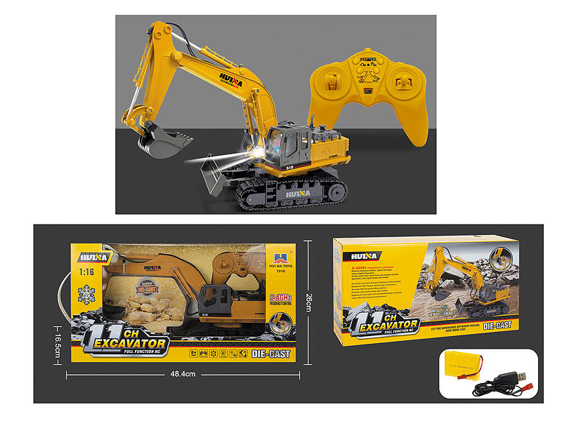 2.4G1:16 R/C Construction Truck 11Ways W/Charge toys