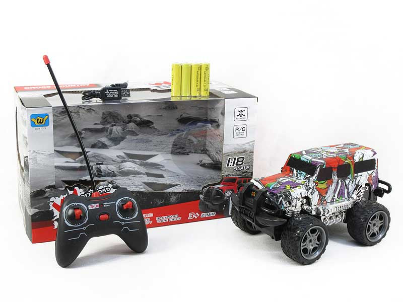 1:18 R/C Cross-country Car 4Ways W/L_Charge toys