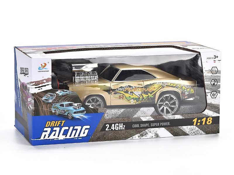 2.4G R/C 4CH Radio Control Drift Car Stunt Rotation with music light toys