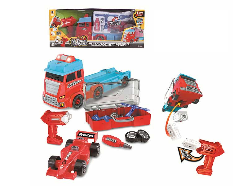 2.4G R/C Diy Container Truck W/L_M toys