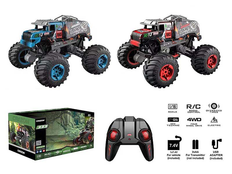 2.4G 1:16 R/C Car W/Charge(2C) toys