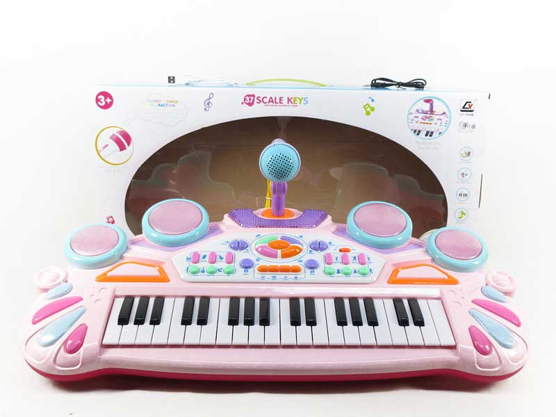 Electronic musical keyboard instrument piano toy for kids with microphone toys