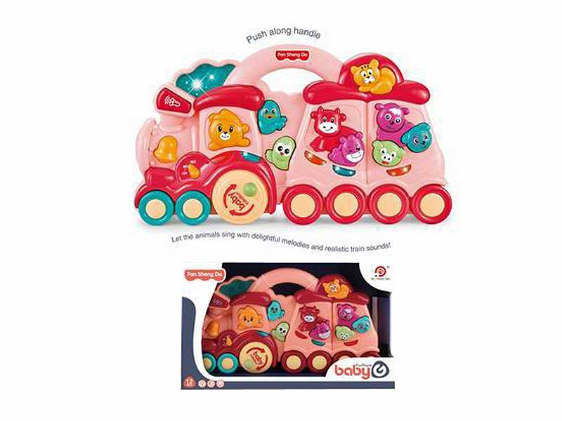 Train and animal design electronic organ with light and music M toys