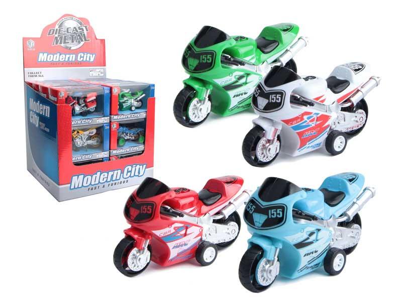 Die Cast Motorcycle Pull Back(24in1) toys