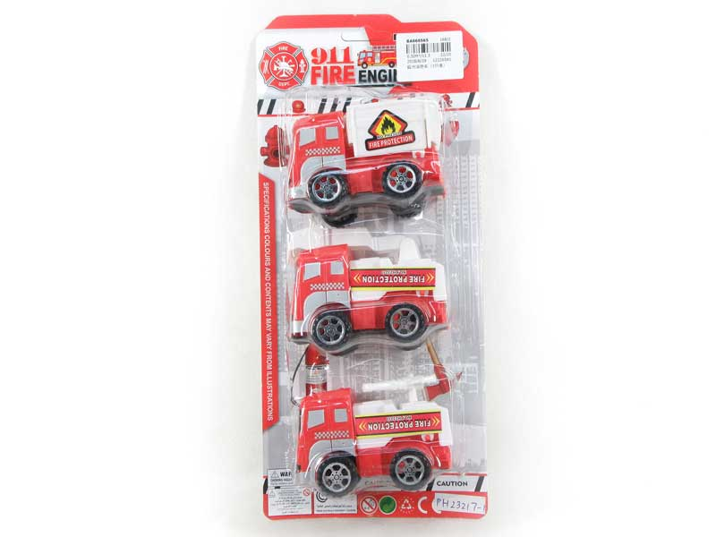 Pull Back Fire Engine(3in1) toys