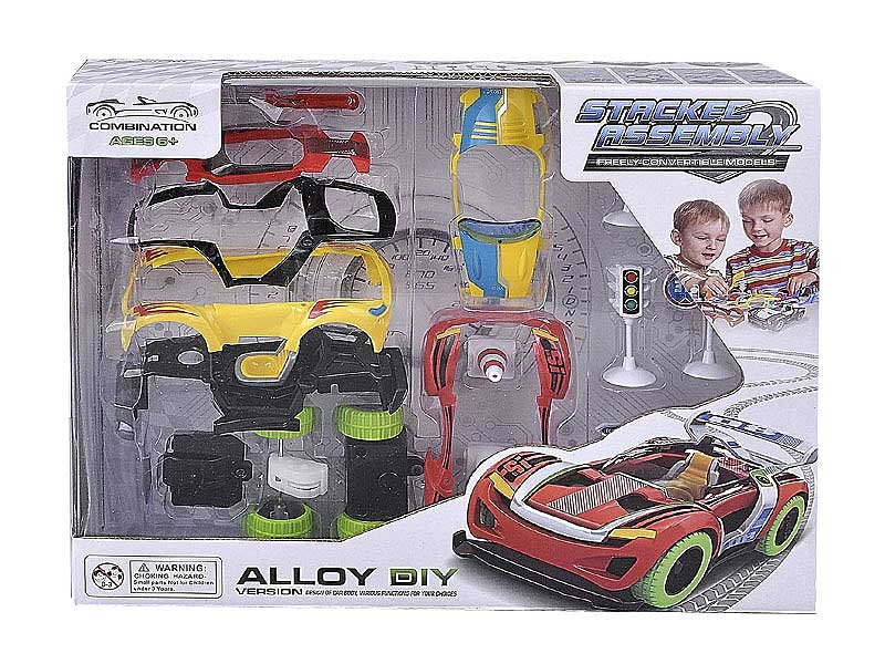 Die Cast Diy Car Pull Back W/M toys