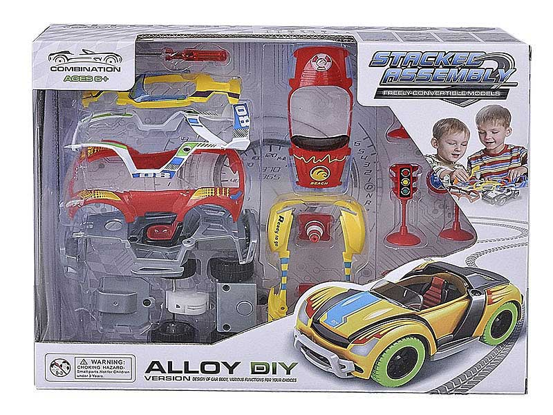 Die Cast Diy Car Pull Back toys