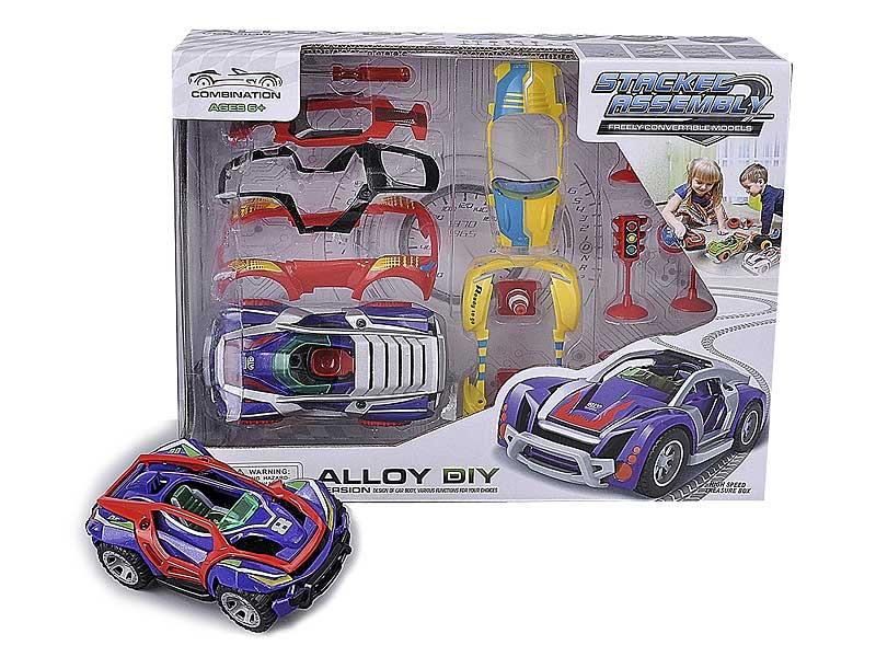 Die Cast Diy Car Pull Back W/M toys