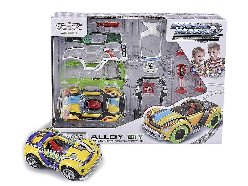 Die Cast Diy Car Pull Back toys