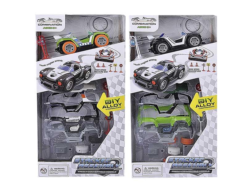 Die Cast Diy Car Pull Back(2S) toys