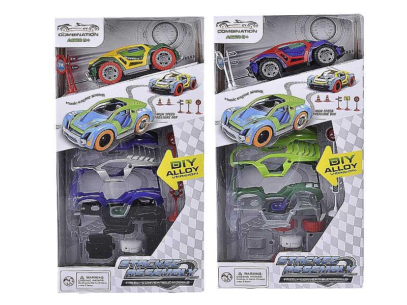 Die Cast Diy Car Pull Back W/M(2S) toys