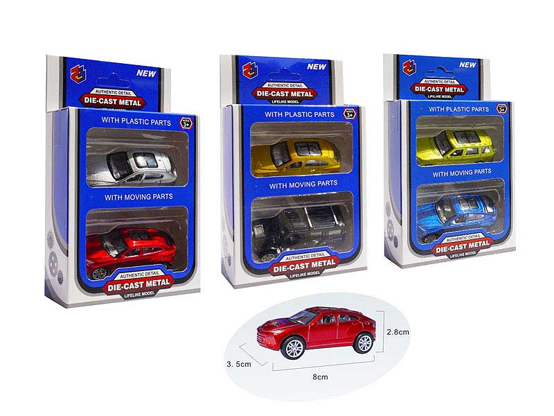 1:50 Die Cast Car Pull Back(2in1) toys