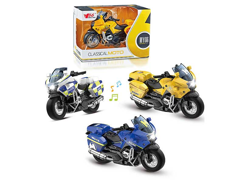 1:14 Die Cast Motorcycle Pull Back with Light and Music toys
