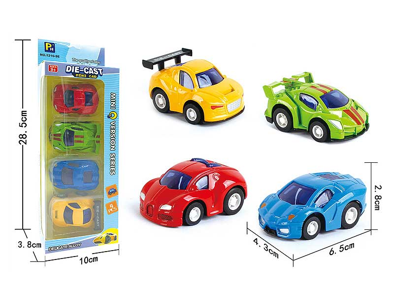 Die Cast Sports Car Pull Back(4in1) toys