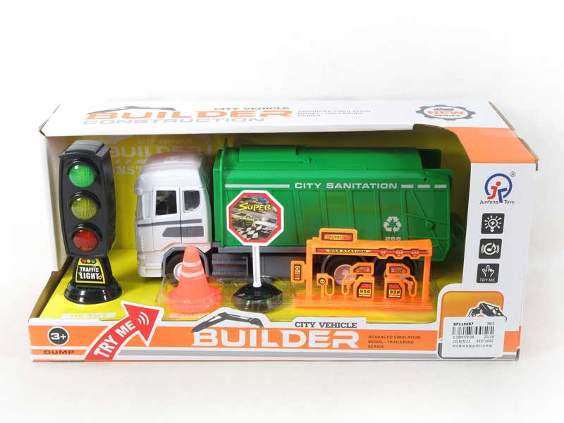 Friction Car Set W/L_S toys
