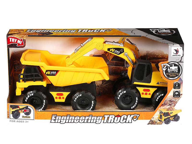 Friction Construction Truck W/L_IC(2in1) toys