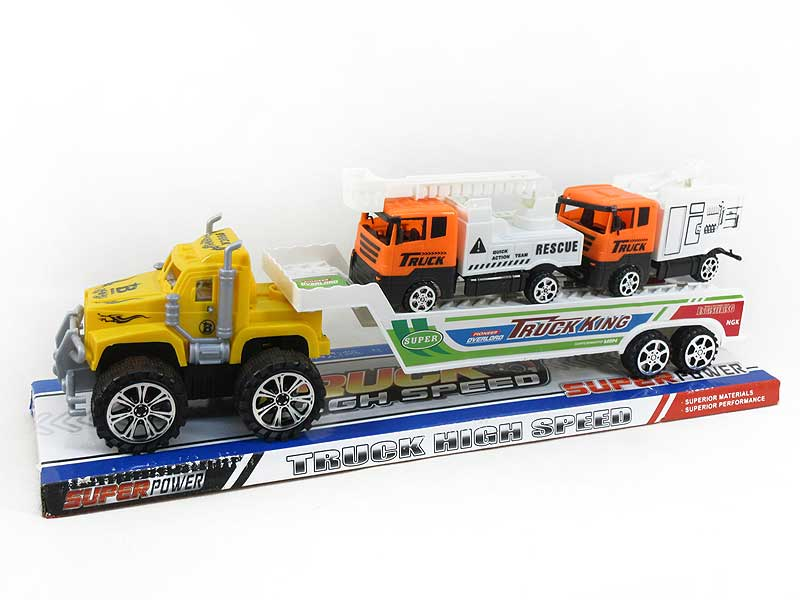 Friction Truck Tow Free Wheel Fire Engine(3C) toys