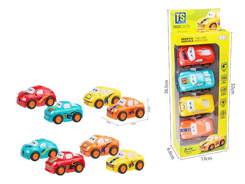ABS Cartoon Friction Car Eco-friendly Painting toys