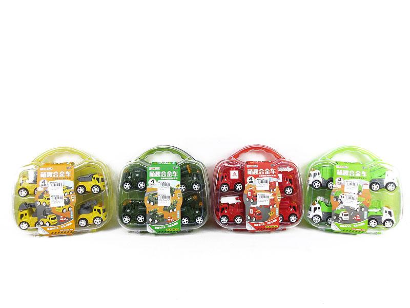 Die Cast Car Set Friction(4S) toys