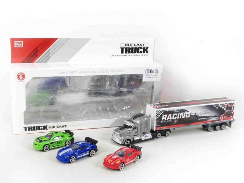 1:58 Die Cast Truck Set Free Wheel toys