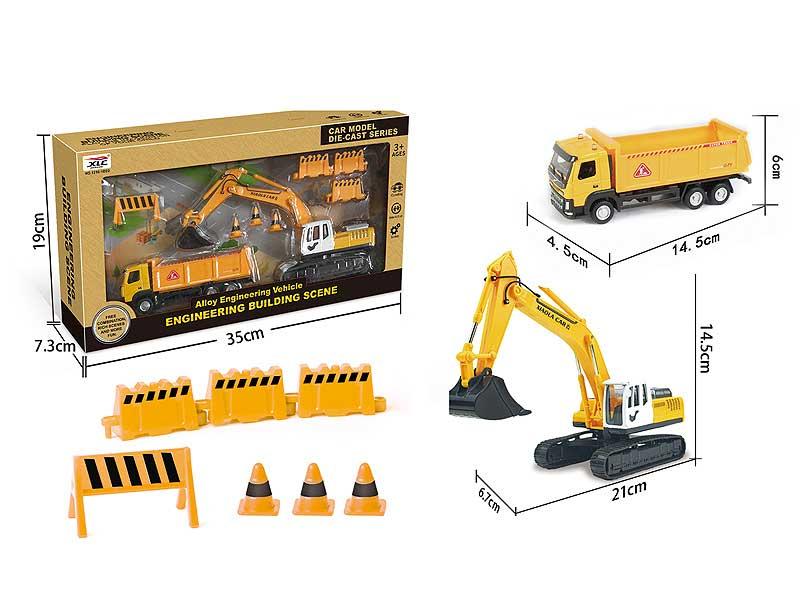 Die Cast Construction Truck Set Free Wheel toys