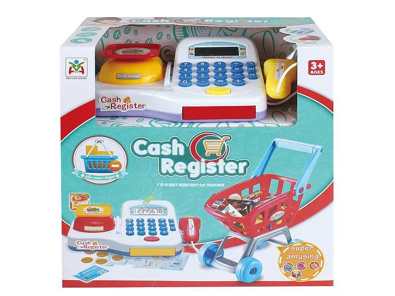 Cash Register W/L & Shopping Car toys