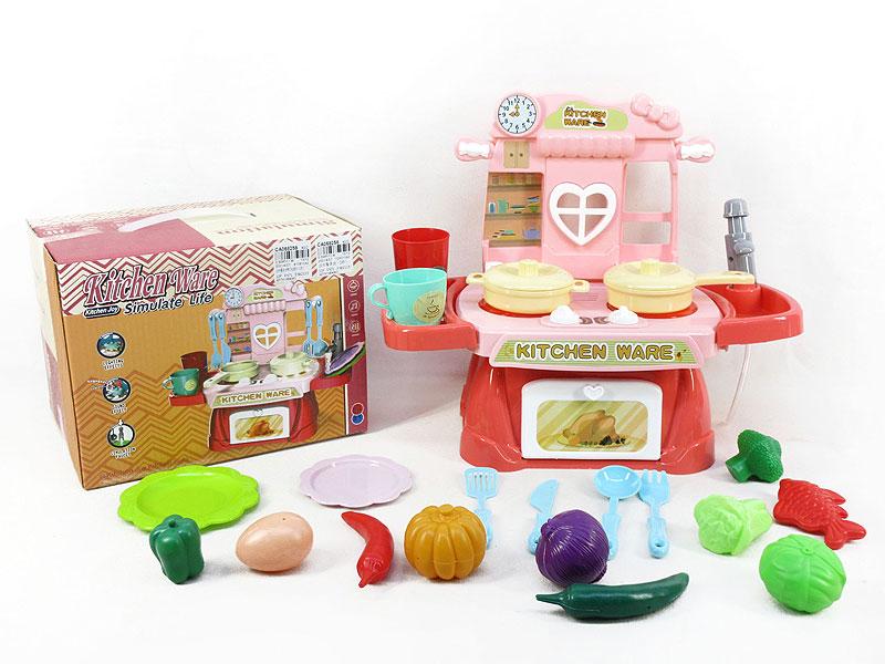 Water Kitchen Set W/L_M(2C) toys