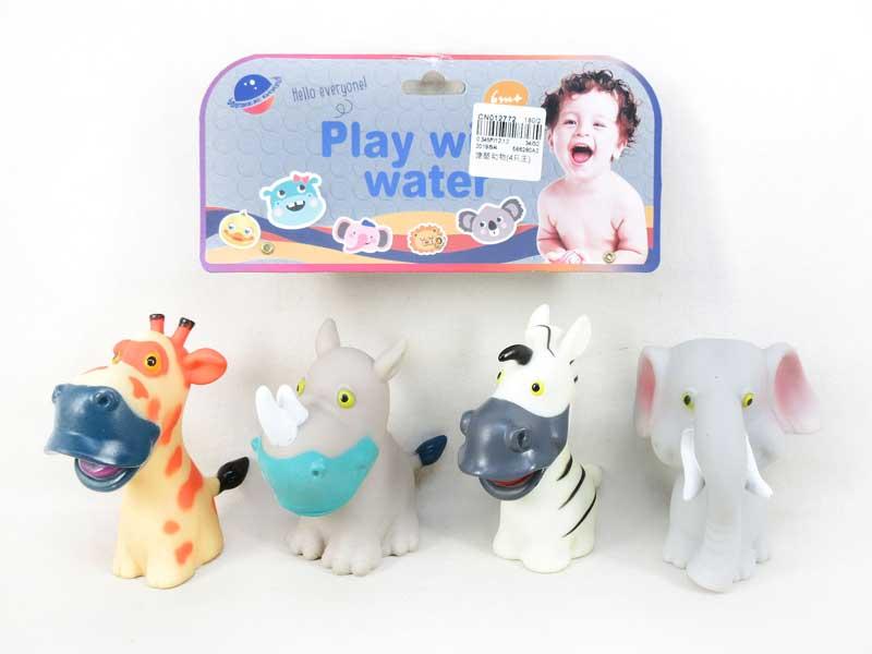 Cute slush animal baby toys with BB whistle toys