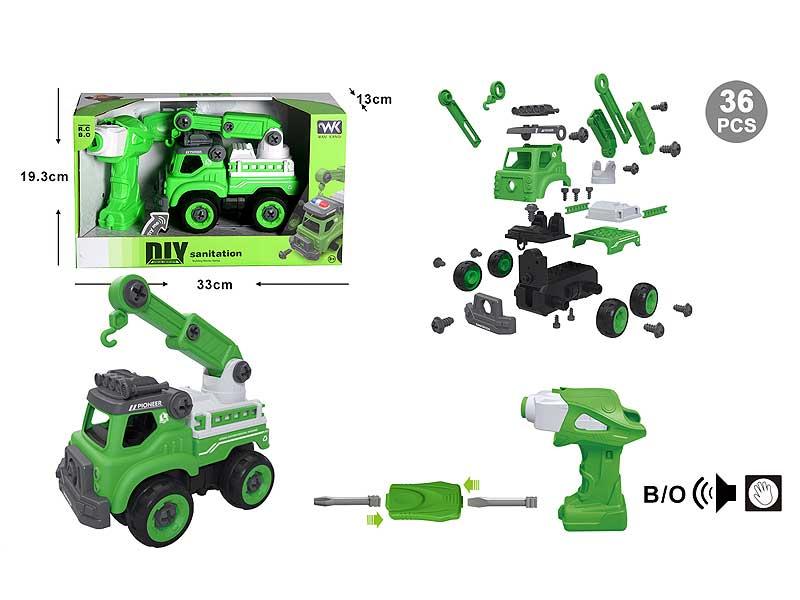Diy Sanitation Truck W/S_IC toys