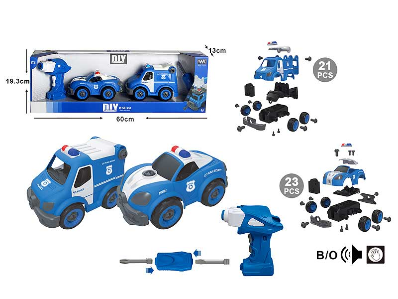 Diy Police Car W/S_IC(2in1) toys