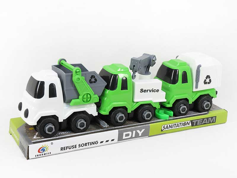 Diy Sanitation Truck(3in1) toys