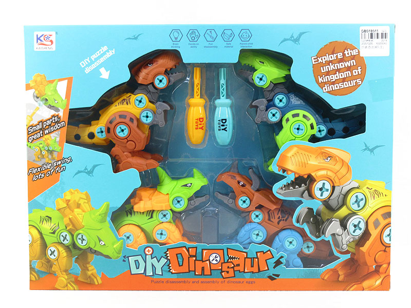 Diy Dinosaur(4in1) toys