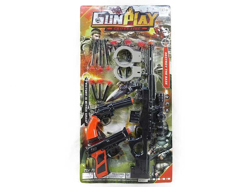 Soft Bullet Gun Set(3in1) toys