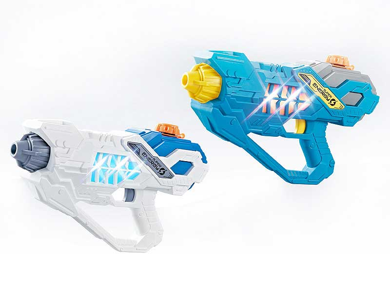 Battery Operated Summer toy plastic pressure water gun with led light toys