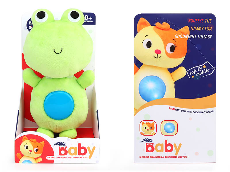 Plush Soothes Frogs W/L_S toys