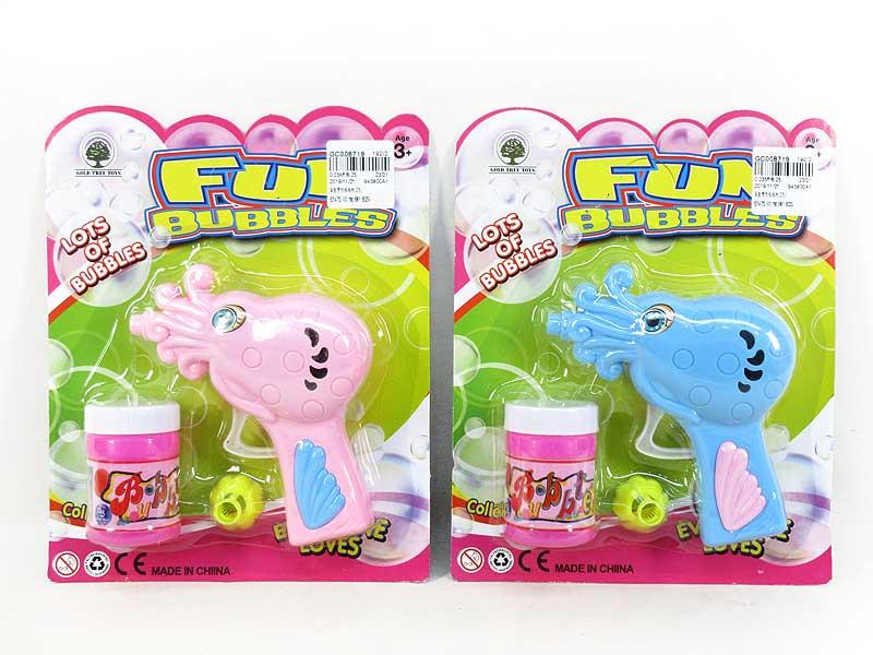 Friction Bubble Gun(2C) toys