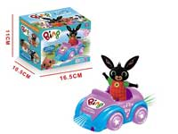 Battery operated Bing Bunny bump and go car cartoon car