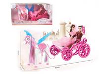 B/O Carriage W/L_M & Doll toys
