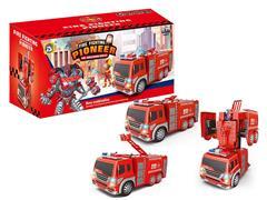电动万向变形消防车带灯光音乐(2款)