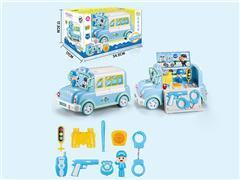 B/O Police Storage Car W/M toys