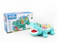 B/O Crocodile W/L_M toys