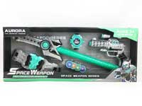 B/O gun set with light/IC, space weapon set, projection gun set toys