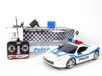 1:12 R/C Police Car W/Charge(2C)(2C)