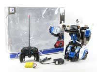 R/C Transforms Police Car W/Charge toys