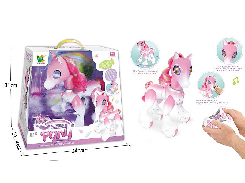R/C Horse pink unicorn walking pony