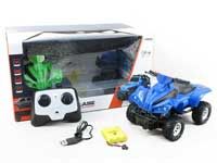 2.4G 1:20 R/C Motorcycle 4Ways W/Charge(2C)